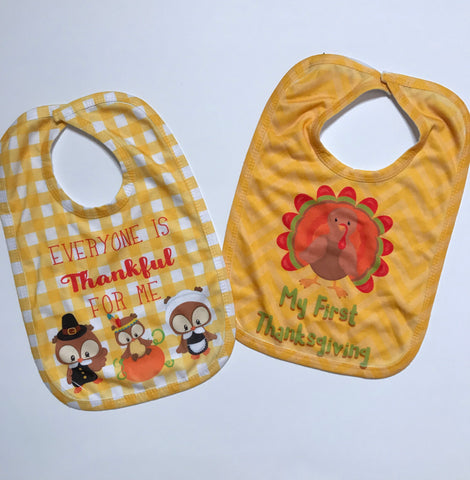 Thanksgiving Bib Set - In The Limelight