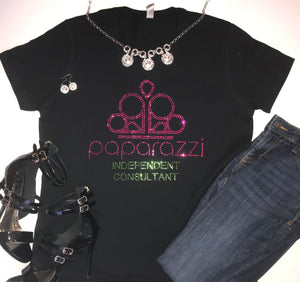 Paparazzi Consultant Rhinestone Shirt - In The Limelight