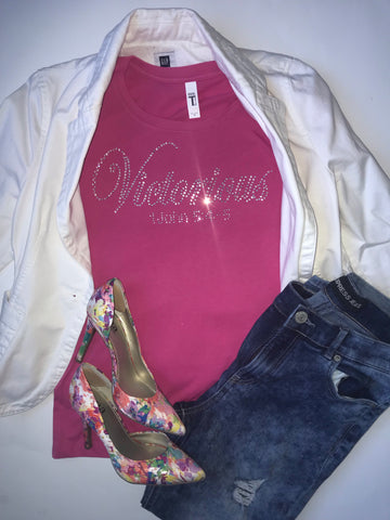Victorious Rhinestone Shirt - In The Limelight