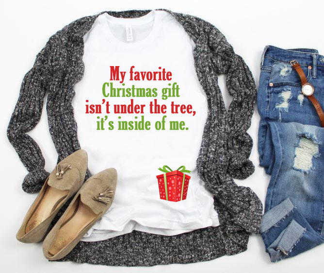 Not Under The Tree Christmas Pregnancy Announcement Shirt - In The Limelight