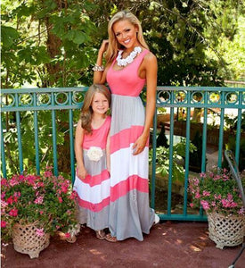 Mommy and Me Striped Maxi Dress - In The Limelight