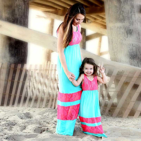Mommy and Me Lace Maxi Dress - In The Limelight
