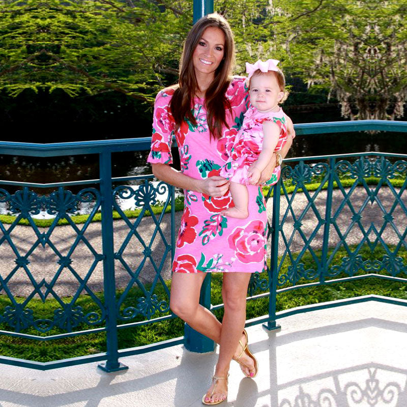 Mommy and Me Pink Floral Dress - In The Limelight