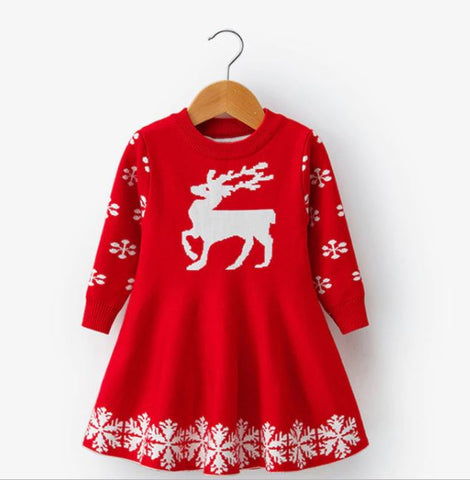 Reindeer Snowflake Dress