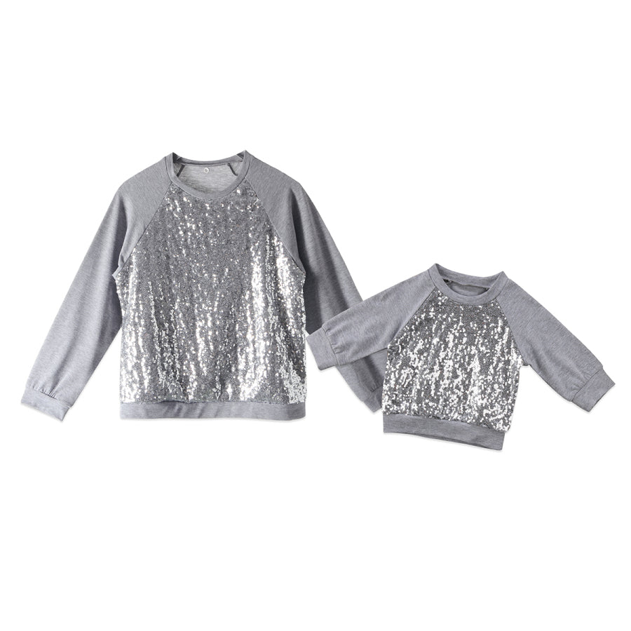 Mommy & Me Silver Sequins Shirt - In The Limelight