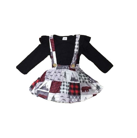 Mountain Squares Christmas Dress