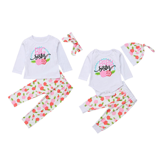 Big Sister Little Sister White Floral Outfit - In The Limelight
