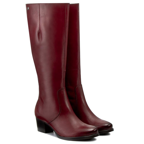 Caprice Bordeaux Nappa Boot