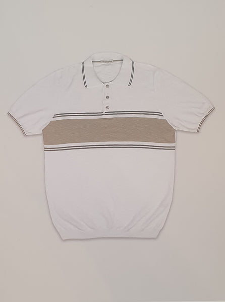 Polo Shirt Hoop 1433 White/Nat
