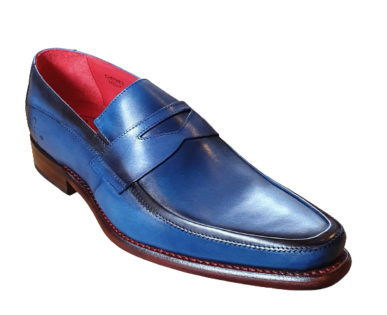 Checked Melly Loafer Blue Shadow