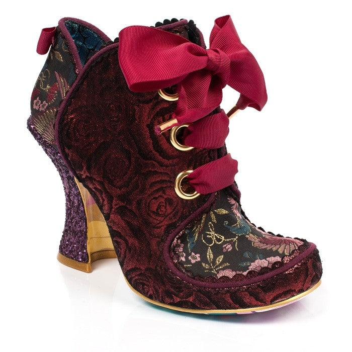 Irregular Choice Baroness Red Ankle Boot