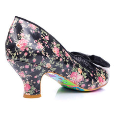 Irregular Choice Marma Black Heel Shoe