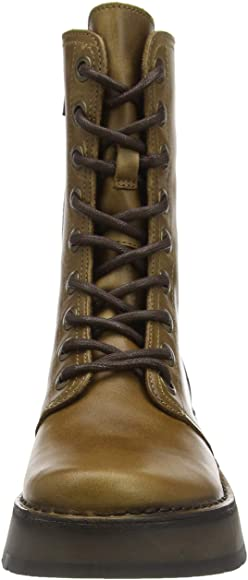 Fly London Rami Lace-up Zip Boot in Camel.