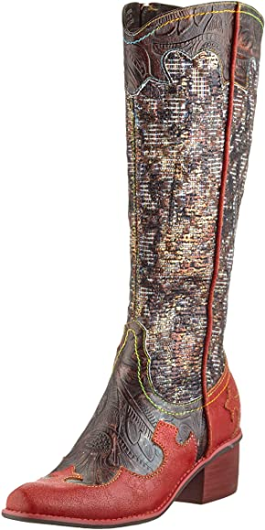Laura Vita Gecaio Rouge Red Western Style Long Boot