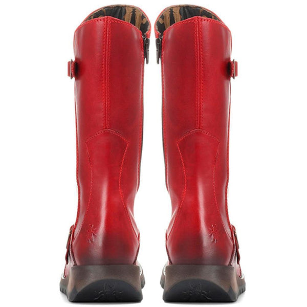 Fly London Mes Rug Red Boot