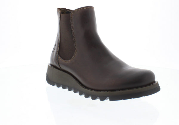 Fly London Salv rug dark brown chelsea boot