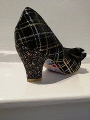Irregular Choice Ban Joe Black silver glitter shoe