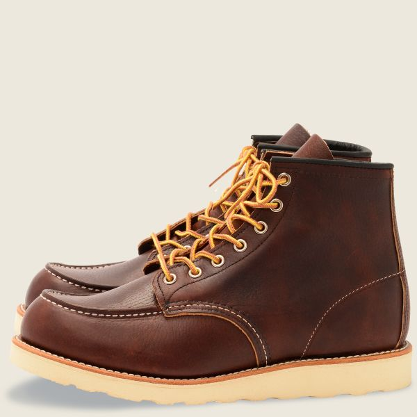 "8138 Moc Toe 6"" Brown/ Briar Oil Slick Leather"