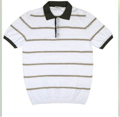 Polo Shirt Stripe 1439 Navy/White