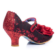 Irregular Choice Summer Breeze Red Metallic buckle strap shoe