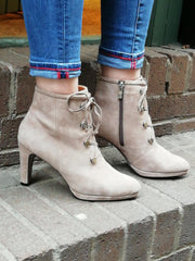 Caprice suede taupe ankle boot