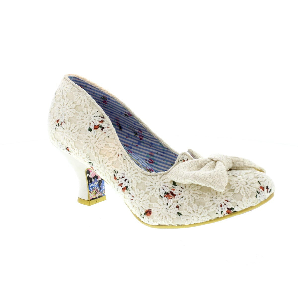 Dazzles 2nd Razzle Cream Floral by Irregular Choice