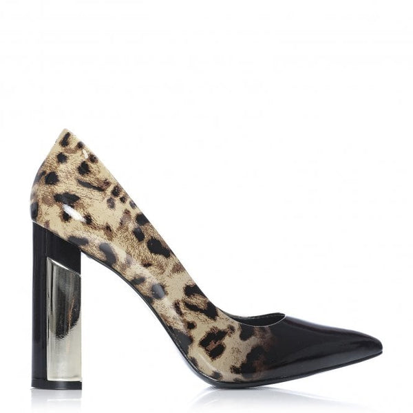 Moda In Pelle Dolian Leopard  Court Shoe