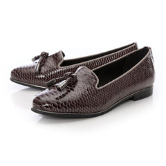 Moda In Pelle Eadlist Grey Snake Print Loafer