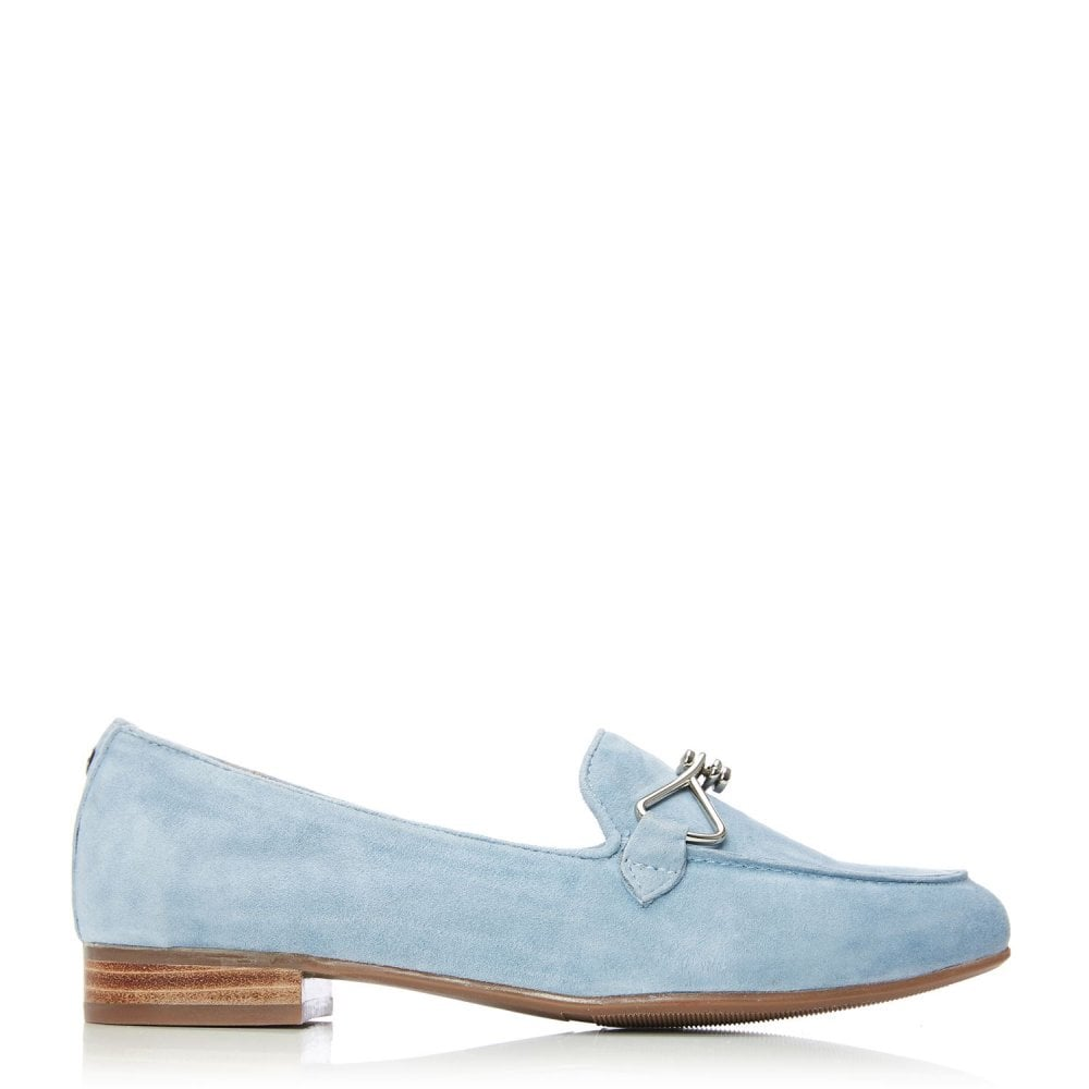 Moda in Pelle Ferna powder Blue Suede Loafer