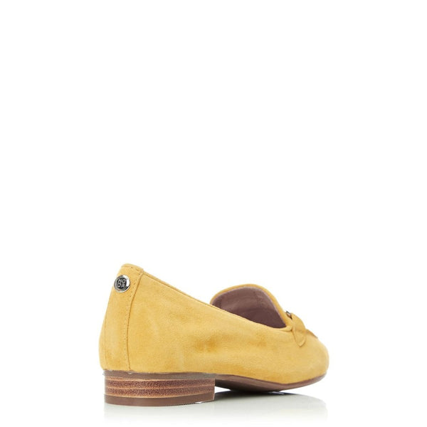 Moda in Pelle Ferna yellow Suede Loafer