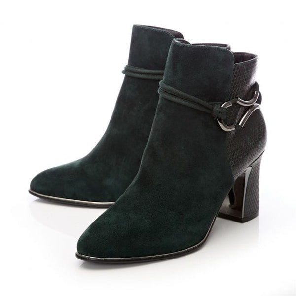 Moda In Pelle Lorile Green Suede Ankle boot