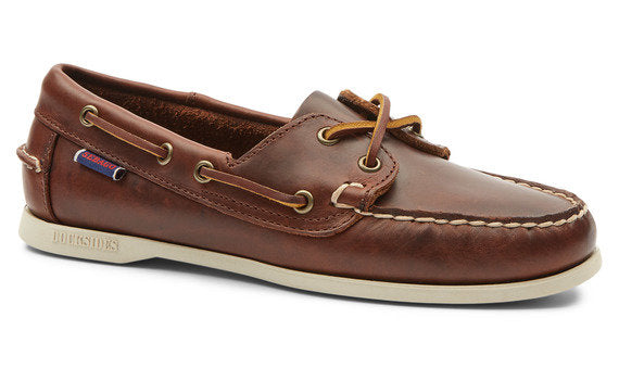 Sebago Jaqueline Waxed Brown Deck Shoes