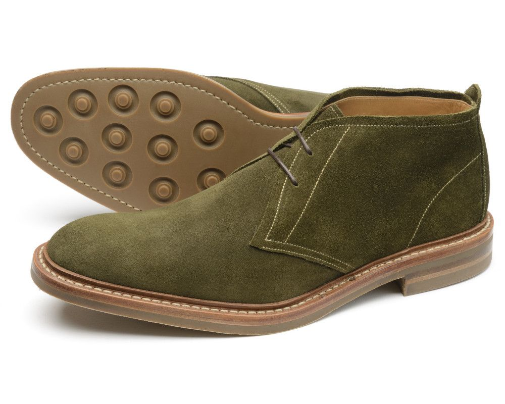 Sandown Green Suede