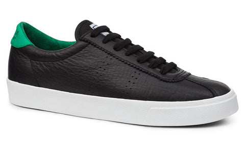 2843 SUPERGA SPORT CLUB S BLACK GREEN Comfleau