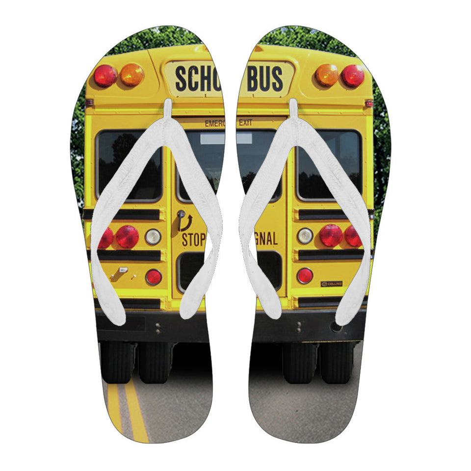 Back of School Bus Flip Flop
