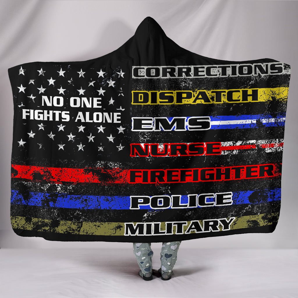 No One Fights Alone - Hooded Blanket