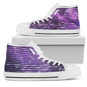 Galaxy Stripe White Sole Men's High Top Shoe