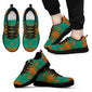 Between the Mountains Teal Orange Sopo Men's Sneakers