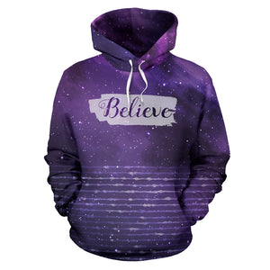 Believe Galaxy Stripe All Over Hoodie