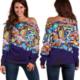 Hip Vibrations Women's Off Shoulder Sweater