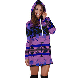 Between the Mountains Purple Hoodie Dress