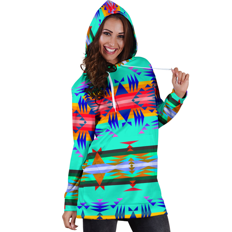 Between the Mountains Spring Hoodie Dress