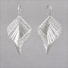 Azur Rhodium over Silver Cascading Square Earrings