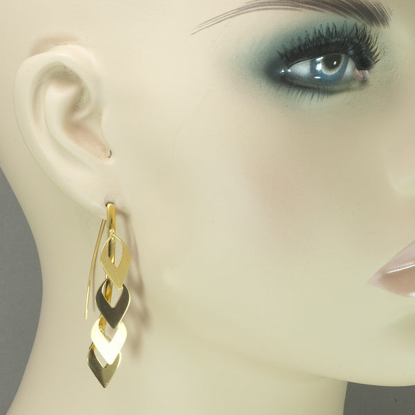 Azur Gold Inverted Teardrops Earrings
