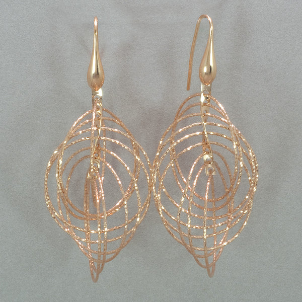 Azur Rose Gold Cascading Circles Earrings