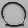 Italgem Onyx and Black Stainless Steel Bracelet
