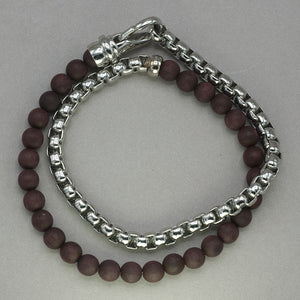 Italgem Wood and Stainless Steel Wrap Bracelet