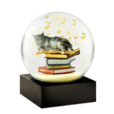 Snowglobe - Cat on Books