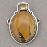 Tabra Citrine and Jasper Charm