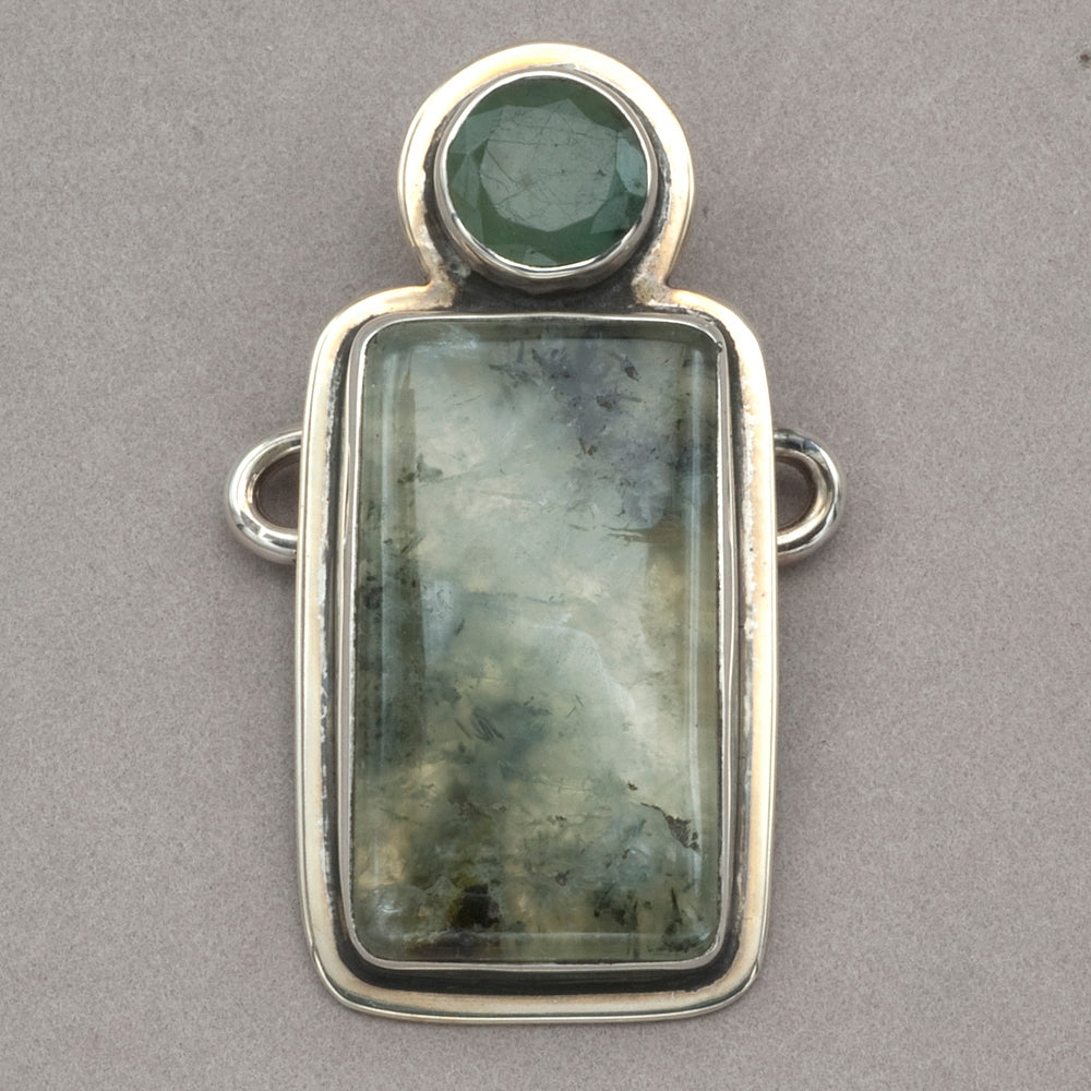 Tabra Emerald and Agate Charm